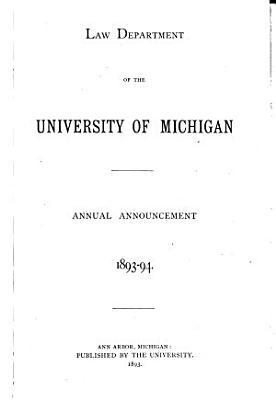 University of Michigan Law School Bulletin PDF