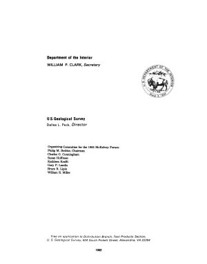 USGS Research on Mineral Resources  1985
