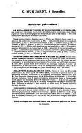 Bibliographie de la Belgique, publ. par la librairie nationale et etrangere de C. Muquardt: Volume31