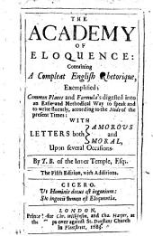 The academy of eloquence, 1654. A Scolar Press facsimile