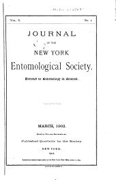 Journal of the New York Entomological Society: Volume 10