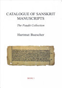 Catalogue of Sanskrit Manuscripts