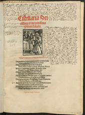 Cistellaria: Cistellaria Scitissima et iucundissima Plauti fabula