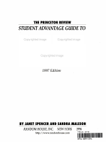 Student Advantage Guide to Visiting College Campuses  1996 PDF