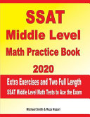 SSAT Middle Level Math Practice Book 2020