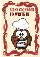 Blank Cookbook to Write in