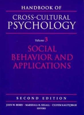 Handbook of Cross cultural Psychology  Social behavior and applications PDF