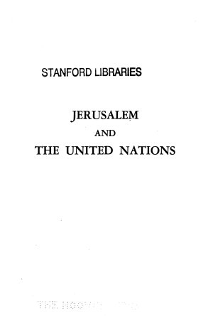 Jerusalem and the United Nations