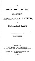 The British Critic  Quarterly Theological Review  and Ecclesiastical Record PDF