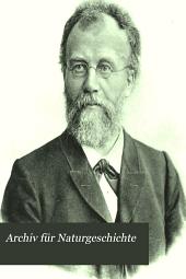 Archiv für Naturgeschichte: Band 67,Ausgabe 2,Teil 3