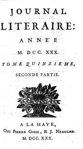 Journal litéraire: Volume12;Volume15