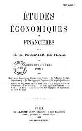 Études économiques et financières: Première série