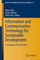 Information and Communication Technology for Sustainable Development PDF
