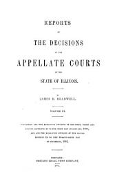 Reports of the Decisions of the Appellate Courts of the State of Illinois: Volume 11
