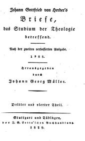 Saemmtliche Werke: Zur Religion und Theologie : Th. 14, Briefe, das Studium der Theologie betreffend ; Th. 3 u. 4, Volume 1, Issue 14