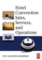 Hotel Convention Sales  Services and Operations PDF