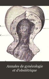 Annales de gynécologie et d'obstétrique: Volumes5à6
