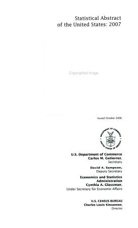 Statistical Abstract of the United States  2007 PDF