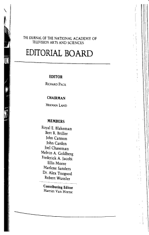 Television Quarterly PDF