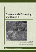 Eco Materials Processing and Design X PDF