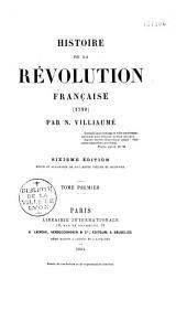 Histoire de la Révolution française: (1789)