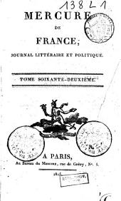 Mercure de France: Volume62