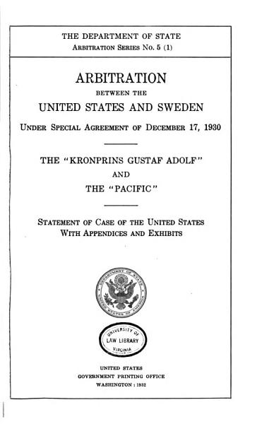 Download Arbitration Between the United States and Sweden Book