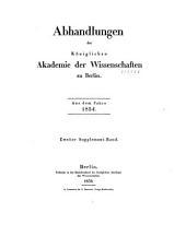 Abhandlungen der Königlich Preussischen Akademie der Wissenschaften