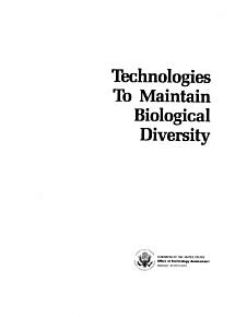Technologies to Maintain Biological Diversity PDF