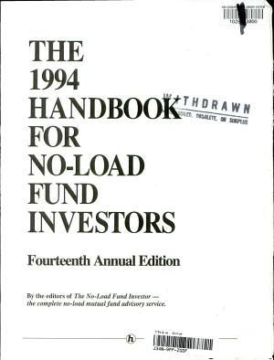 Handbook for No Load Fund Investors