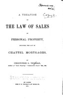 A Treatise on the Law of Sales of Personal Property PDF