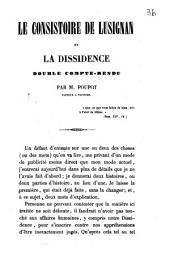 Le Consistoire de Lusignan et la dissidence: double compte-rendu