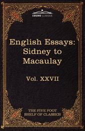 English Essays: From Sir Philip Sidney to Macaulay