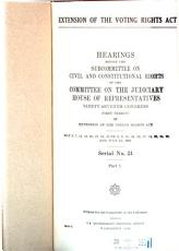 Extension of the Voting Rights Act PDF
