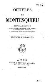 Grandeur des romains [Dissertation sur la politique des Romains dans la religion. Dialogue de Sylla et d'Eucrate