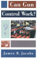 Can Gun Control Work  PDF