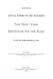 Year-book: Annual Report of the Board of Managers, Volume 60