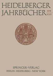 Heidelberger Jahrbücher: Band 22
