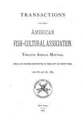 Proceedings of the American Fish Culturists' Association