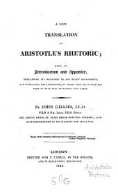 A new translation of Aristotle's rhetoric