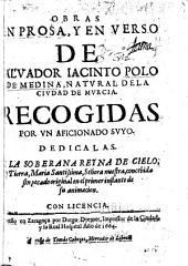 Obras en prosa: y en verso de Salvador Iacinto Polo de Medina, natural de la ciudad de Murcia