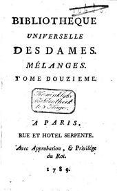 Bibliothèque universelle des dames: Volume10