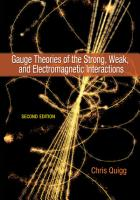 Gauge Theories of the Strong  Weak  and Electromagnetic Interactions PDF