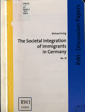 The Societal Integration of Immigrants in Germany PDF