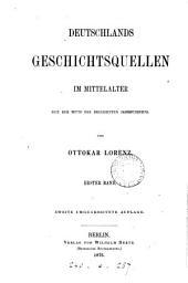 Deutschlands Geschichtsquellen im Mittelalter, von der Mitte des 13en bis zum Ende des 14en Jahrhunderts