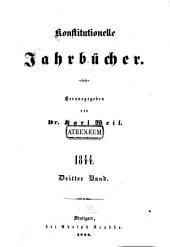 Konstitutionelle jahrbücher: Teil 3