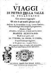 Viaggi di Pietro della Valle, il Pellegrino: divisi in tre parti, cioè la Turchia, la Persia, e l'India, Volume1