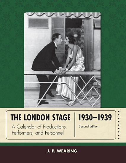 The London Stage 1930 1939 PDF