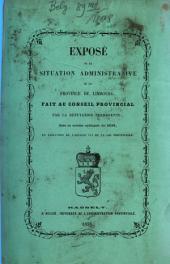Vertoog van den bestuurlijken toestand der Provincie Limburg: voor het jaar ... 1858