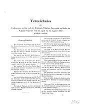 Verzeichnis der Vorlesungen: 1872, SH